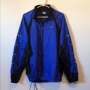 Nike blue and black windbreaker zip up jacket